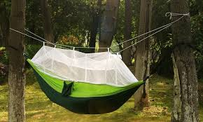 2 person parachute hammock with built in mosquito net and carry