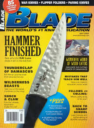 blademagazine july 2017 cover jpg the kitchen knife was featured as a main attraction in an article about paring knives in the end the editors concluded that the luna would make a great
