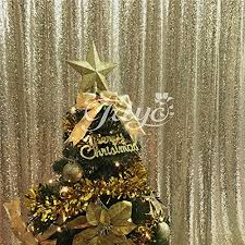trlyc 3ftx7ft light gold sequin photo booth for wedding fabric 36