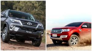 toyota fortuner vs lexus 2016 toyota fortuner vs 2016 ford endeavour comparison report
