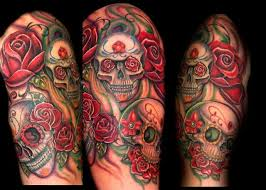 matching 40 arm skull tattoos style pictures