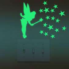 tinker bell glow in dark stars luminous wall stickers tinker bell glow in dark stars luminous wall stickers