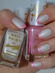 silk french manicure barry m kalanchoe