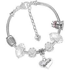 bracelet with charm images Aunt auntie aunty style charm bracelet with charms beads gift box jpg