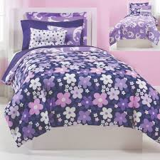 grape gatspy bedding reversible purple floral and scroll bedding