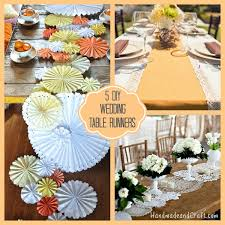 table runners wedding 5 diy wedding table runners
