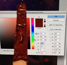 defining paint color with help of the eyedropper tool in photoshop