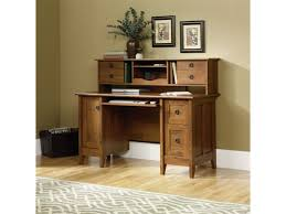 Wood Computer Desk With Hutch Foter by Light Brown Wooden Computer Desk With Two Hutch Under The Counter