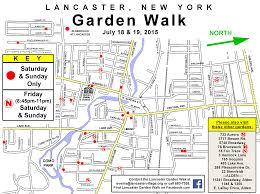 Lancaster Map Lancaster Garden Walk Daytime Buffalo Niagaragardening Com