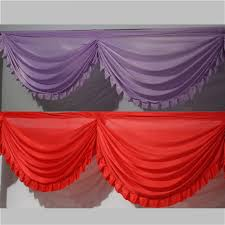 wedding backdrop size silk wedding backdrop swags with tassel for wedding party