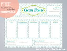 printable house cleaning schedule free operation clean house printable 24 7 moms