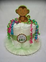Baby Monkey Centerpieces by Pink Or Blue Baby Shower Centerpiece Baby Block Baby Washcloth