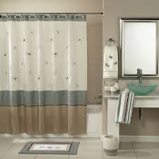 Brown Floral Shower Curtain Fabric Shower Curtain Liner Gray Pale White Curtain Rectangle Grey