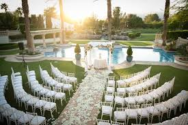 Poolside Table And Chairs Poolside Ceremony Amazing Open Air Tented Reception In