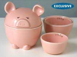 pig kitchen canisters nesting pig measuring cups and cannister set beyond the