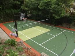 Backyard Tennis Courts by Understanding The Cost Of A Backyard Basketball Court Sportprosusa