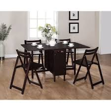 space saver table set space saving kitchen table brilliant wood espresso 5 pc space