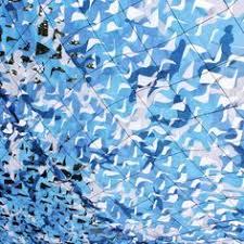 Camouflage Netting Decoration 3m 3m Sea Blue Military Camo Netting Decoration Ocean Blue