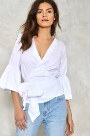 white wrap blouse present tense wrap blouse shop clothes at gal
