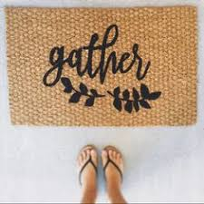 thanksgiving doormat to bring civilized living to the world thankful and blessed