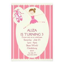 406 best ballet birthday party invitations images on pinterest
