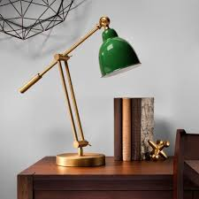 crosby schoolhouse desk l green and gold task l includes cfl bulb threshold target