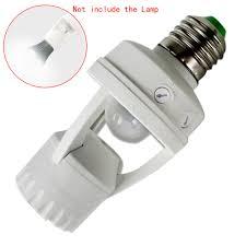 e27 e14 b22 led lamp bulb light holder switch infrared pir motion