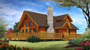 Log Home Blueprints by Simple Log Cabin House Plans With Outdoor Balcony For Design Ideas