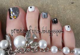 prettyfulz pedicure nail art designs black u0026 white pedicure