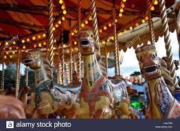 vintage amusement fairground steam gallopers also called carousel