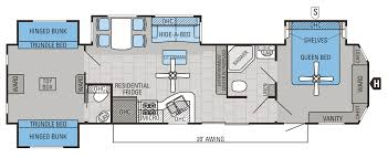 two bedroom rv floor plans inspirations and th wheel with