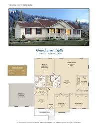 Split Floor Plan Grand Sierra Split Welcome To Trinity Custom Homes