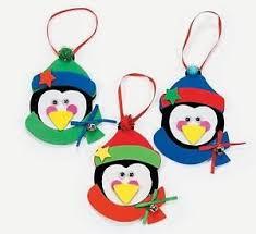 3 penguin foam ornaments craft kit gift kid ebay
