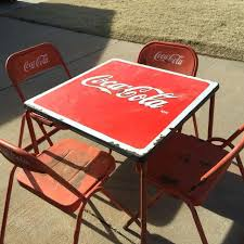 coca cola table and chairs find more final price drop antique coca cola table with 4 chairs for