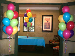 Home Decoration For Birthday by Cool Balloon Decorations For Baby Birthday Interior Design Ideas