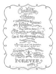 the lord u0027s prayer coloring page in three sizes 8 5x11