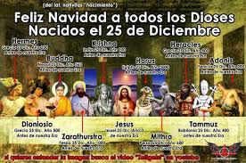 all of these gods were born or celebrated bdays on december 25