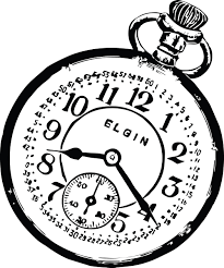 clipart of a pocketwatch