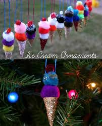 pom pom ice cream cone ornaments and 35 more christmas decorations