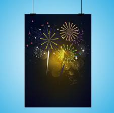 fireworks background template colorful sparkling design free