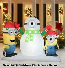 Outdoor Lighted Snowman Blow Up Christmas Decorations Inflatables Outdoor Minion Lighted