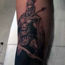 50 spartan tattoo designs for men masculine warrior ideas half