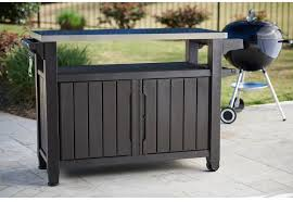 Outdoor Grill Serving Food Prep Station Bbq Table Cart Patio Storage