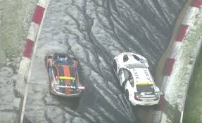 video nurburgring crashes that were caused by hail this weekend