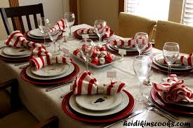 dining room setting a christmas table with pottery barn reindeer