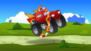 monster trucks lightning mcqueen spiderman and adventure monster truck videos for children of spiderman with