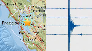 San Francisco Area Map by Earthquake In San Francisco California Measured At 4 0 Magnitude