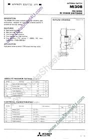 mi308 datasheet pin diode rf power switching