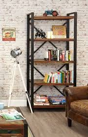 urban chic large open bookcase furniture home interior decor