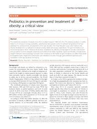 probiotics in prevention and treatment of obesity a critical view